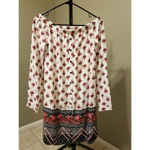 [Off The Shoulder] Printed▪Boho▪ Mini Dress▪[NWOT]